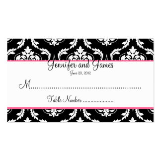 Elegant Damask Wedding Table Seating Card Business Cards
