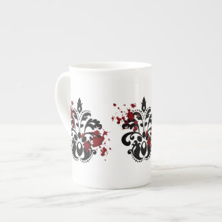 Elegant damask with blood Halloween gothic Tea Cup