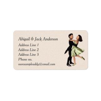 Elegant Dancers: Green Silk Dress (Personalized) Address Label