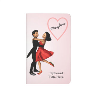 Elegant Dancers: Red Silk Dress (Personalized) Journal