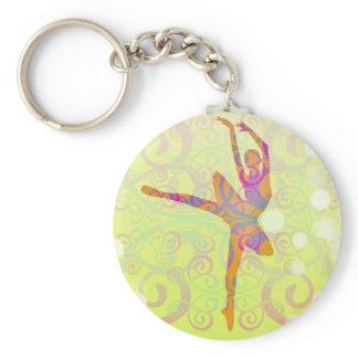 Elegant Dancing Ballerina Keychain
