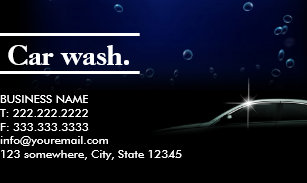 Mobile Car Wash Business Cards Business Card Printing Zazzle