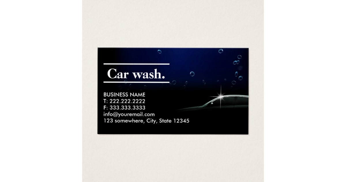 Elegant Dark Auto Detailing/Car Wash Business Card   Zazzle.com
