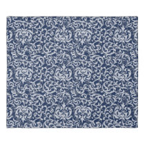 Elegant Dark Blue Tudor Damask Custom Color Duvet Cover