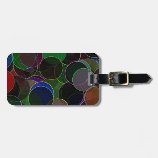 Elegant Dark Bubbles Tags For Bags