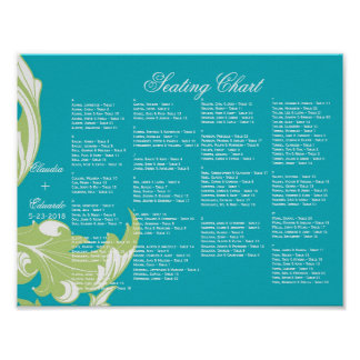 Elegant Dark & Classy Florals - Sky Blue, Green Print