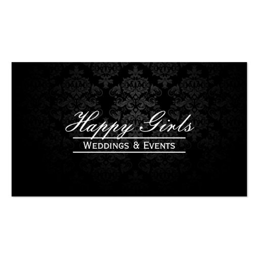 Elegant Dark Damask Wedding Planner Business Cards