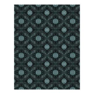 Elegant Dark Floral Pattern Letterhead