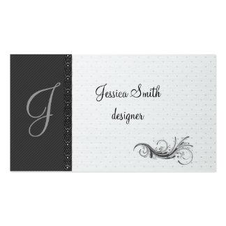 Elegant dark gray discrete stripes stylish lase business card templates