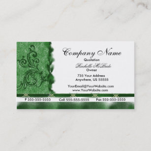 Embroidered embroidery business cards zazzle elegant dark green embroidery business cards colourmoves