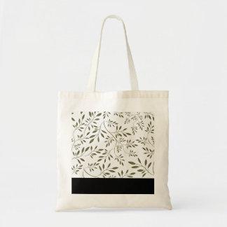 Elegant dark green floral special gift bag