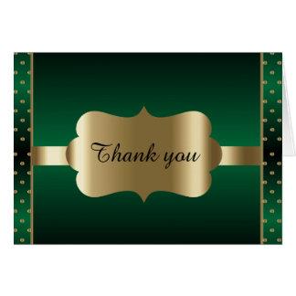Elegant Dark Green & Polka Dots Design | Diy Words Card