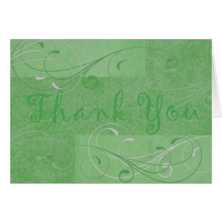 Elegant Dark Green Thank You Notecard