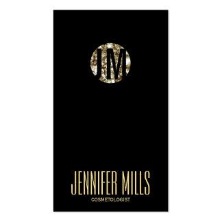 elegant dark jewel hair stylist modern simple business card template