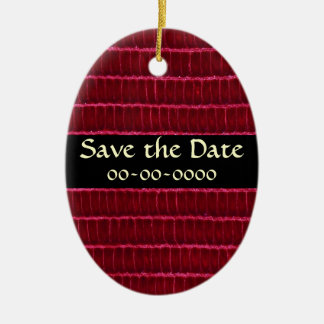 Elegant Dark red Textured Leather Ornament