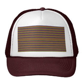 Elegant DARK SHADE Colorful Stripes :LOWPRICE GIFT Mesh Hats