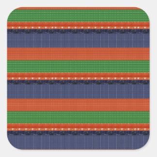 Elegant DARK SHADE Colorful Stripes :LOWPRICE GIFT Square Sticker