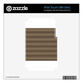 Elegant Dark Shade Metal Look Pattern ART GIFTS iPod Touch 4G Decals