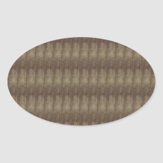 Elegant Dark Shade Metal Look Pattern ART GIFTS Oval Sticker