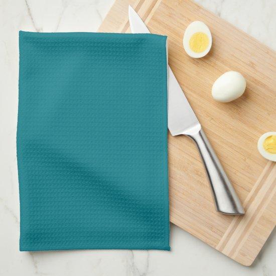 Elegant Dark Teal Monogram Kitchen Towel