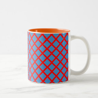 Elegant DarkShade Cross Stripe Purple Pink Gifts Two-Tone Coffee Mug