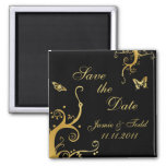 Elegant Dave the Date 2 Inch Square Magnet
