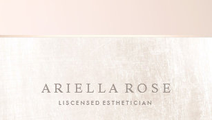 Esthetician business cards zazzle elegant day spa and salon blush pink white marble business card reheart Choice Image