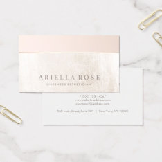 Elegant Day Spa and Salon Blush Pink White Marble Business Card at Zazzle
