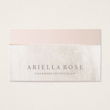sm_business_cards Elegant Day Spa and Salon Blush Pink White Marble Business Card