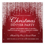 Elegant Dazzle Christmas Holiday Party Red Invitation