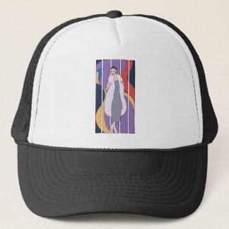 Elegant deco ladies trucker hat