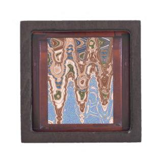 Elegant decoration Sea Land Waves abstract Border Premium Keepsake Boxes