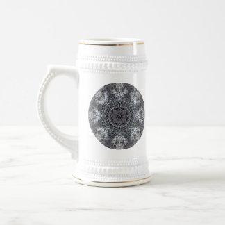 Elegant Decorative Round Pattern. Custom Beer Stein