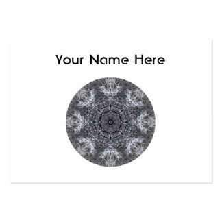 Elegant Decorative Round Pattern. Custom Business Card Template