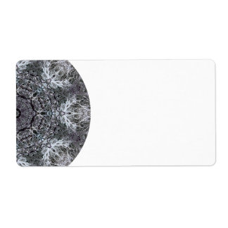 Elegant Decorative Round Pattern. Custom Label