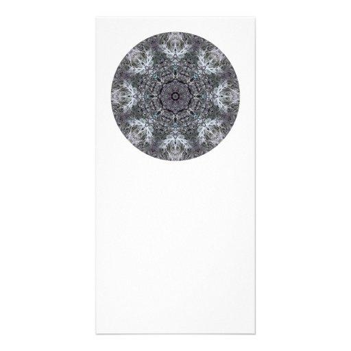 Elegant Decorative Round Pattern. Custom Photo Card