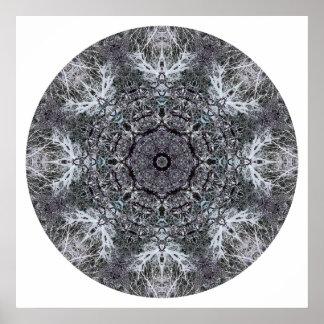 Elegant Decorative Round Pattern. Custom Poster