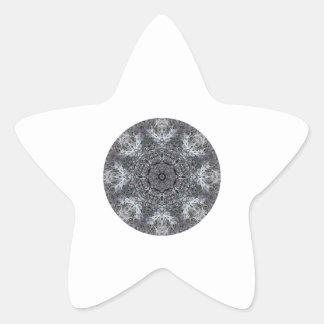 Elegant Decorative Round Pattern. Custom Star Sticker