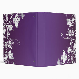 Elegant Deep Purple Floreal Binder
