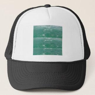 Elegant DEEP SEA GREEN Waves Print by NAVIN JOSHI Trucker Hat