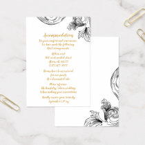 Elegant Delicate Floral Wedding accommodation card