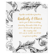 Elegant Delicate Floral Wedding Invitation