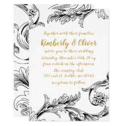 Delicate Floral Wedding Invitations