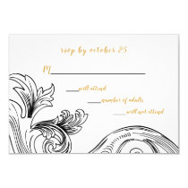 Elegant Delicate Floral Wedding Invitations rsvp