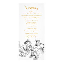 Elegant Delicate Floral Wedding programs