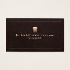 Elegant Dentist Tooth Logo Office Appointment Business Card at Zazzle