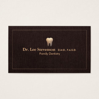 Elegant Dentist Tooth Logo Office Appointment Business Card
