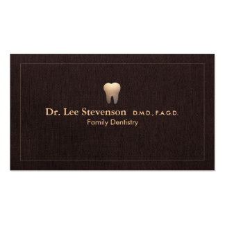 Elegant Dentist Tooth Logo Office Appointment Double-Sided Standard Business Cards (Pack Of 100)