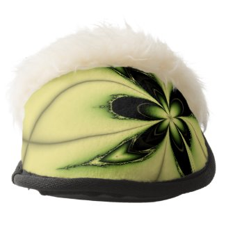 Elegant Design Green Butterfly Fractal Pair Of Fuzzy Slippers
