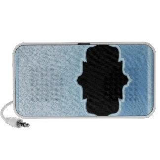Elegant design on bluish texture laptop speaker